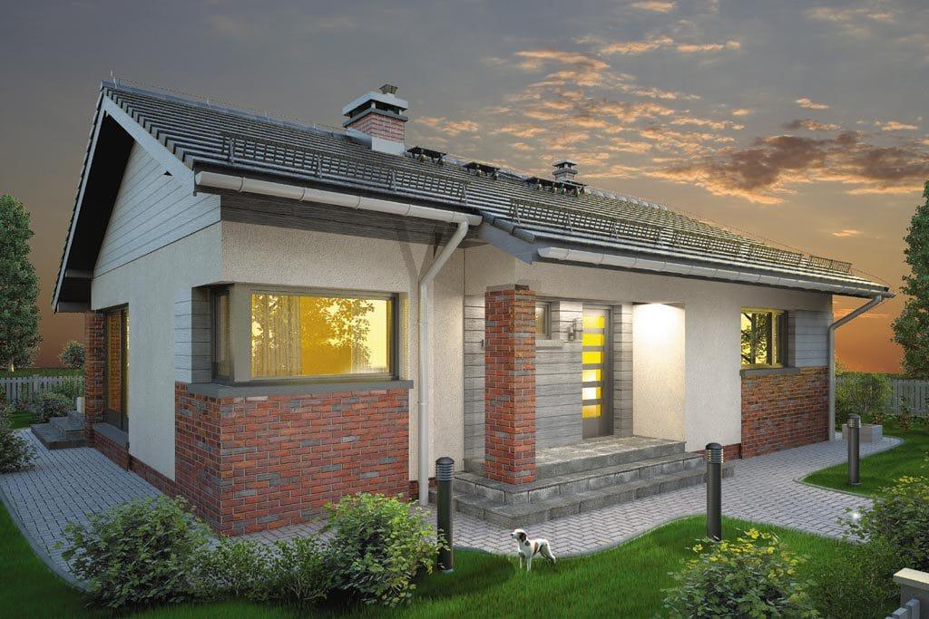 Проект одноэтажного дома с террасой «КО-106» - фото №5
