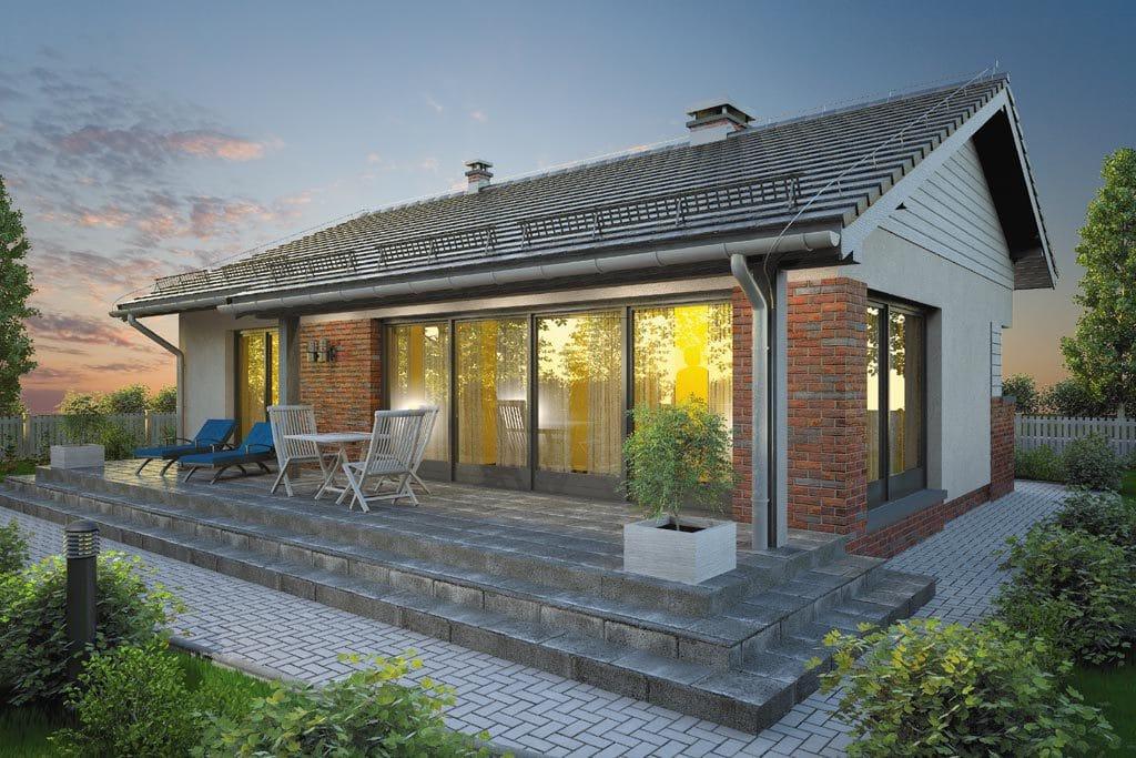 Проект одноэтажного дома с террасой «КО-106» - фото №6