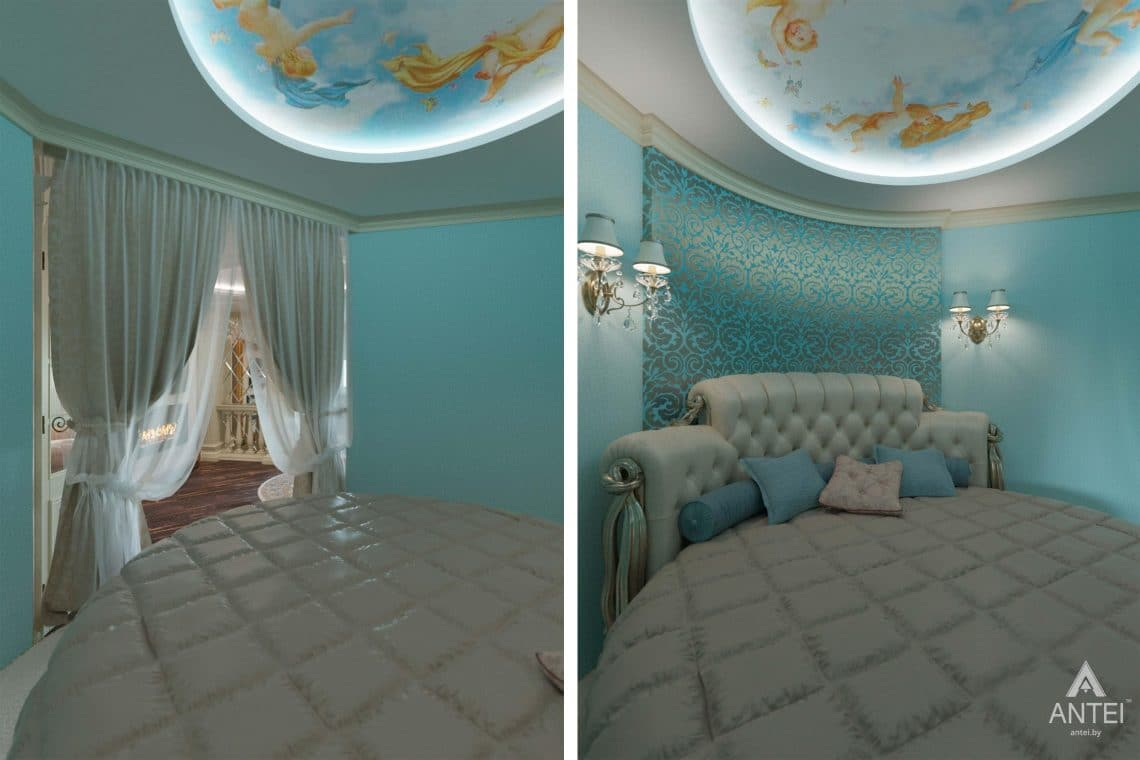 Дизайн интерьера квартиры в Гомеле, ул. Кожара, 59а - спальня фото №1