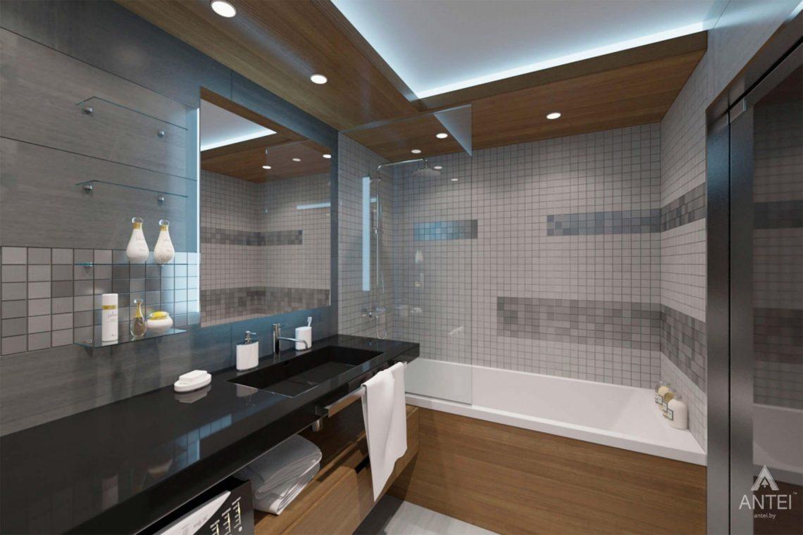 Дизайн интерьера квартиры-студии в Гомеле, ул. Кожара, 59а - санузел фото №2