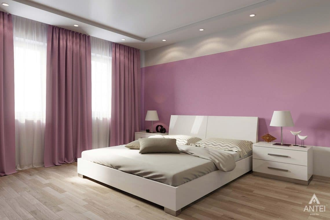 Дизайн интерьера загородного дома в п.Цегельня, Гомельский р-н - спальня фото №5