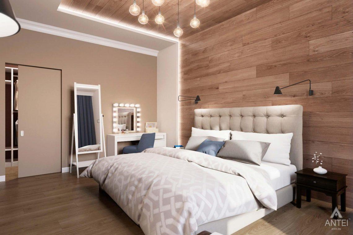 Дизайн интерьера трехкомнатной квартиры в Гомеле, ул.Тельмана - спальня фото №3