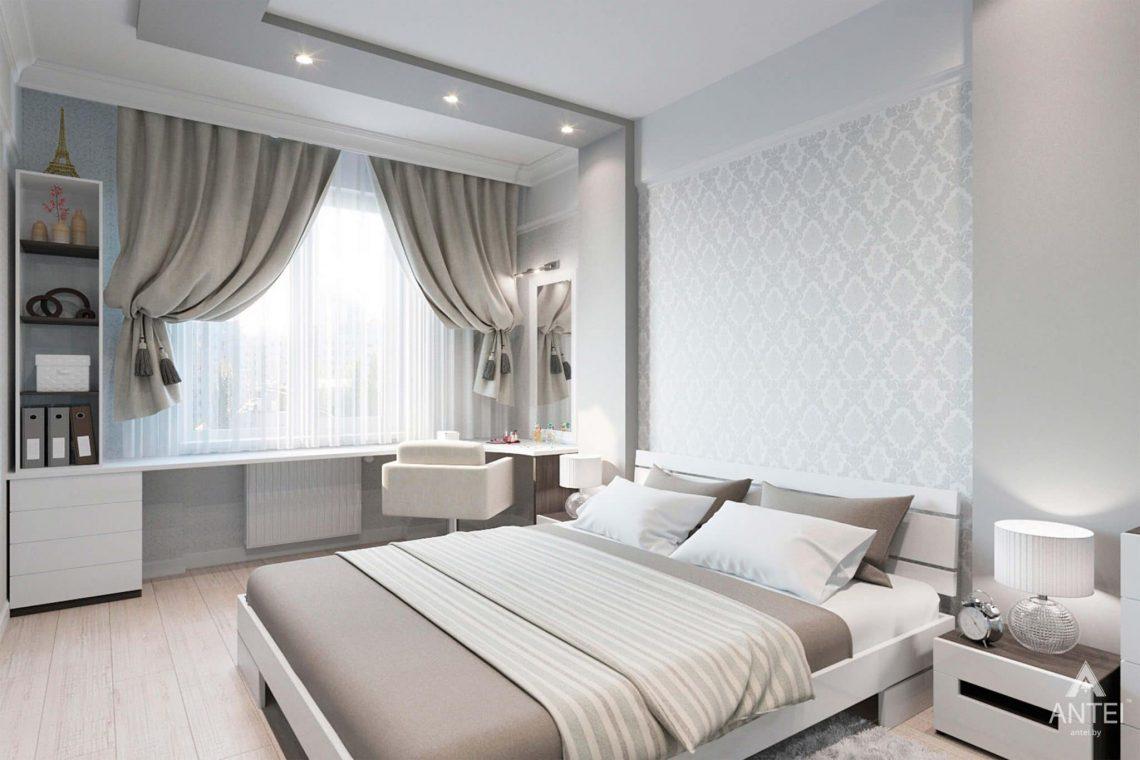 Дизайн интерьера квартиры в Минске, ул.Короля - спальня фото №1