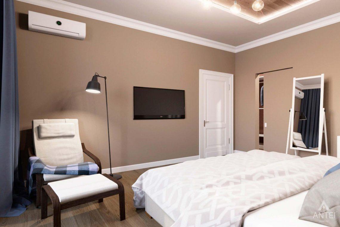 Дизайн интерьера трехкомнатной квартиры в Гомеле, ул.Тельмана - спальня фото №2