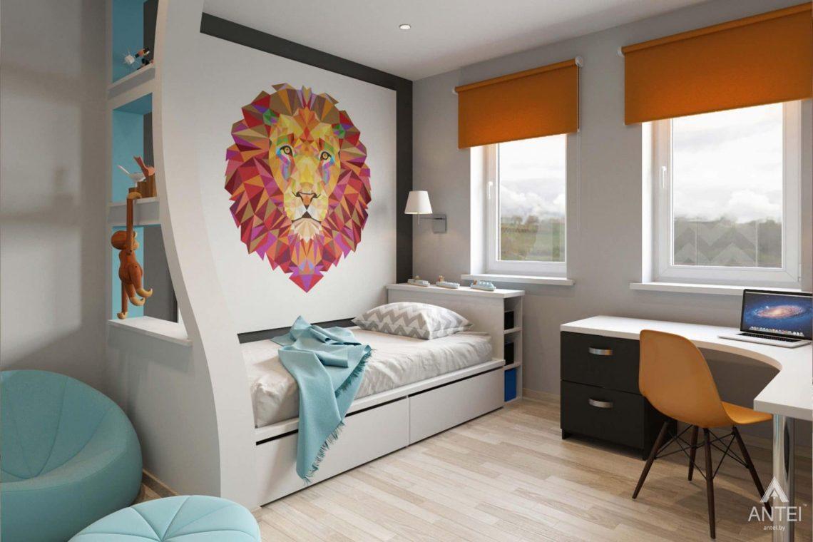 Дизайн интерьера загородного дома в п.Цегельня, Гомельский р-н - детская комната фото №2