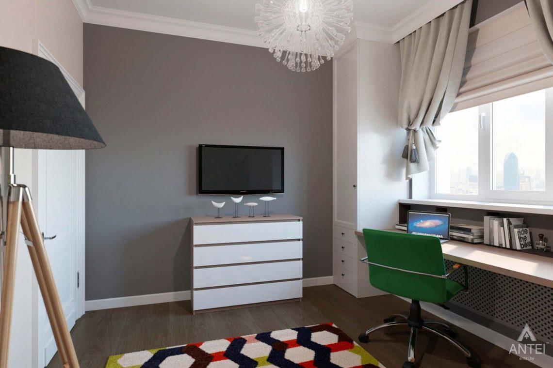 Дизайн интерьера трехкомнатной квартиры в Гомеле, ул.Тельмана - кабинет фото №2