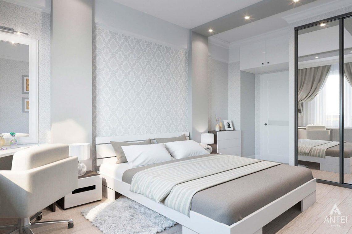 Дизайн интерьера квартиры в Минске, ул.Короля - спальня фото №2