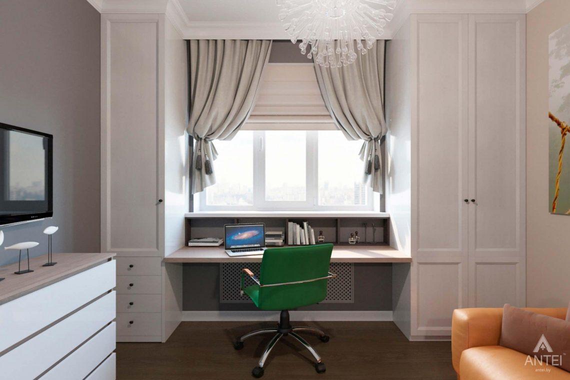 Дизайн интерьера трехкомнатной квартиры в Гомеле, ул.Тельмана - кабинет фото №1