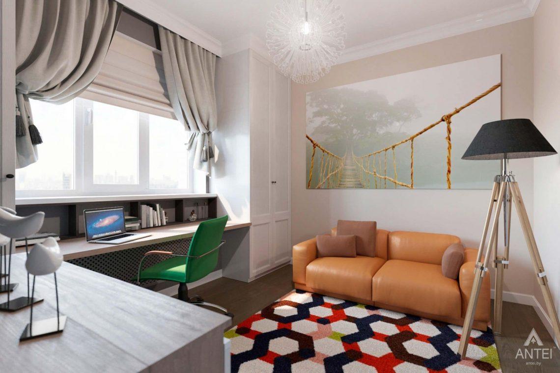 Дизайн интерьера трехкомнатной квартиры в Гомеле, ул.Тельмана - кабинет фото №3