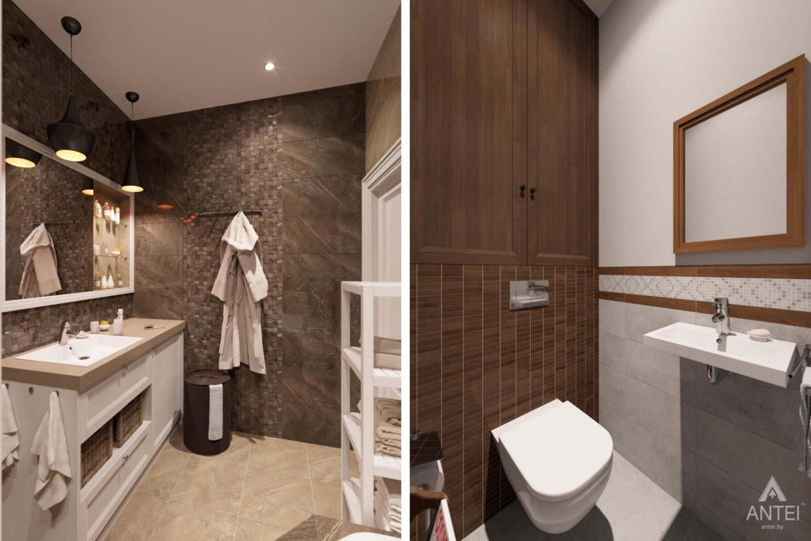 Дизайн интерьера трехкомнатной квартиры в Гомеле, ул.Тельмана - санузел фото №1