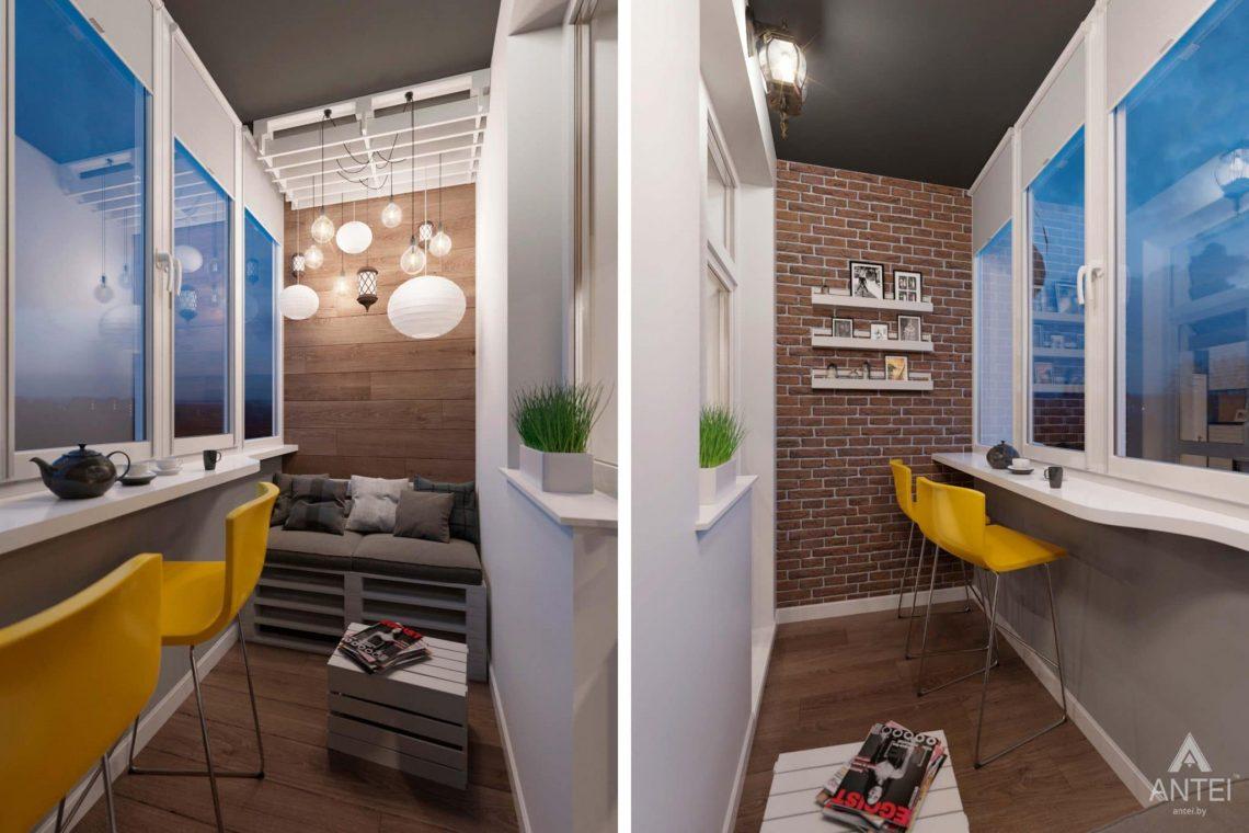Дизайн интерьера трехкомнатной квартиры в Гомеле, ул.Тельмана - лоджия