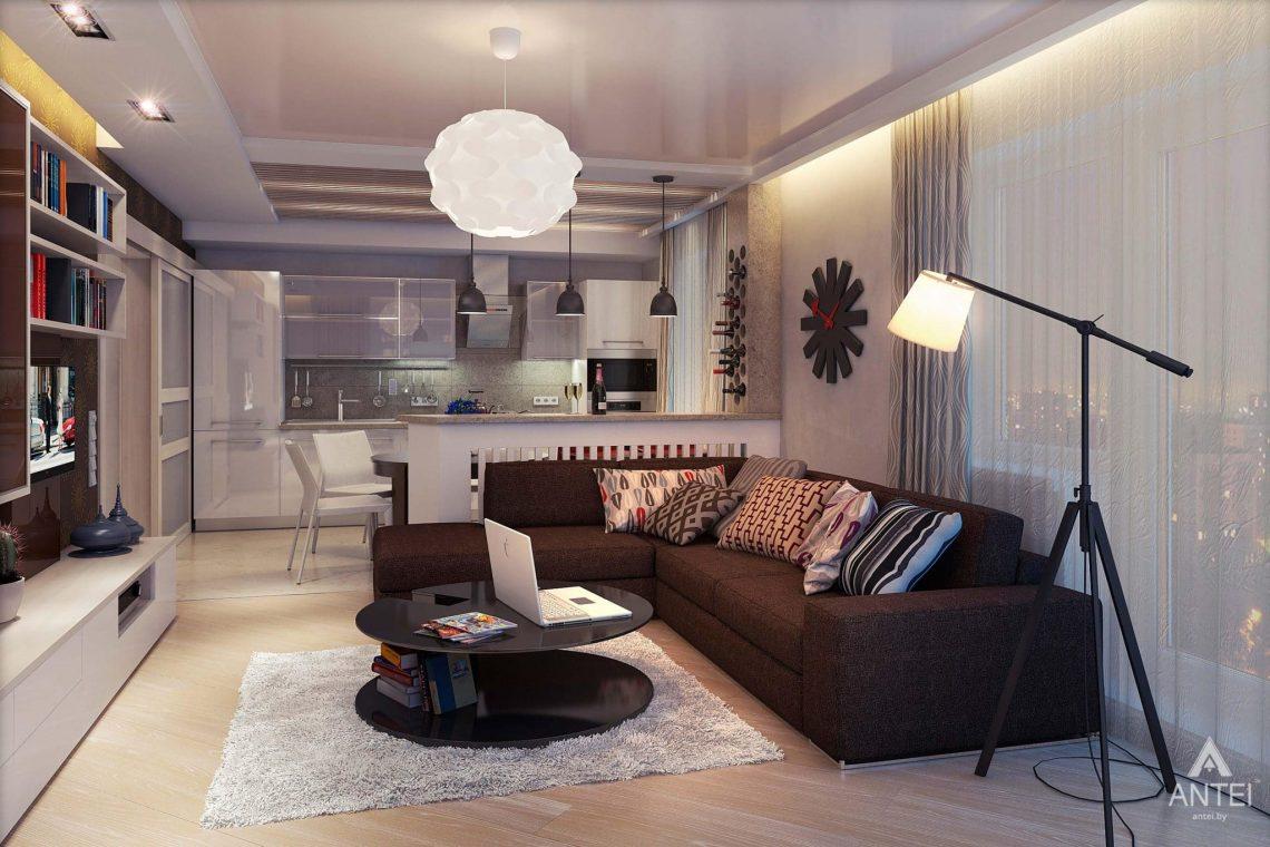 Дизайн интерьера квартиры в Гомеле - кухня-гостиная фото №2