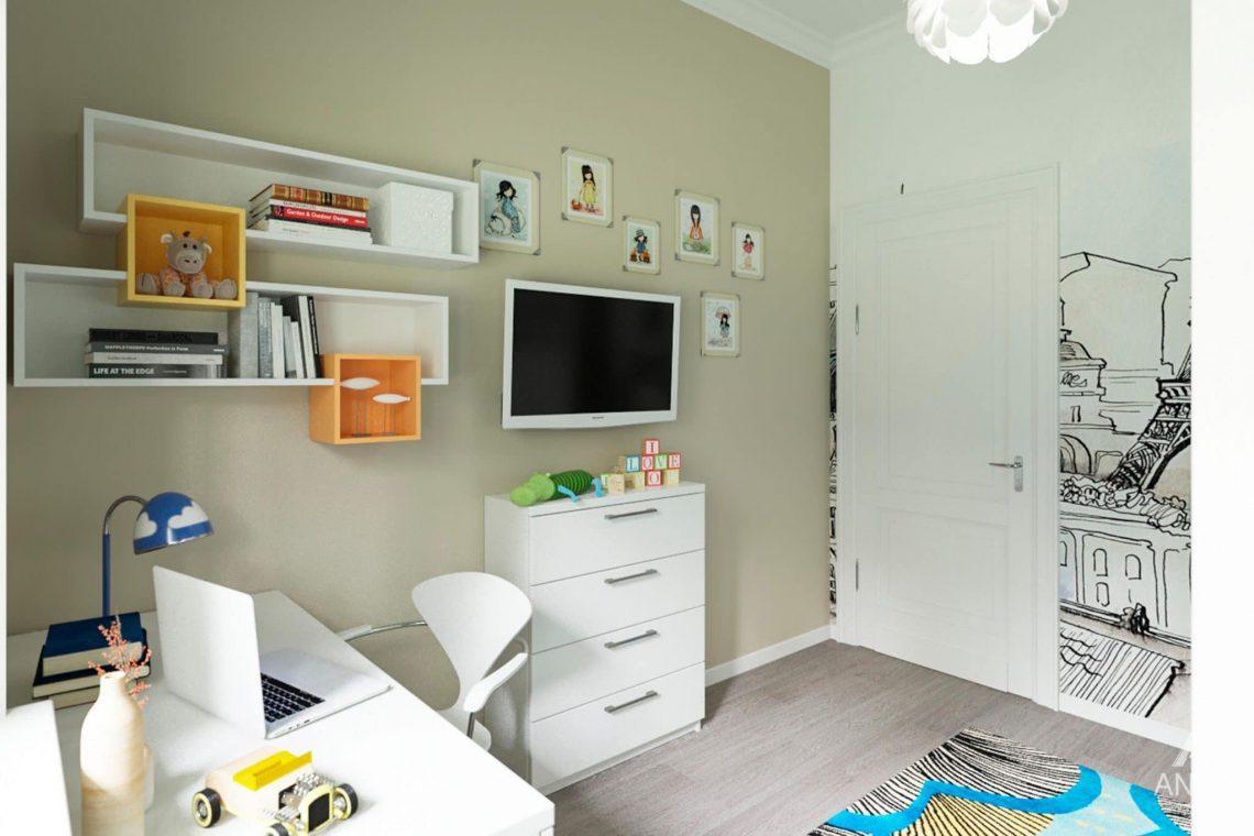 Дизайн интерьера загородного дома в Гомеле, п. Березки - детская комната фото №3