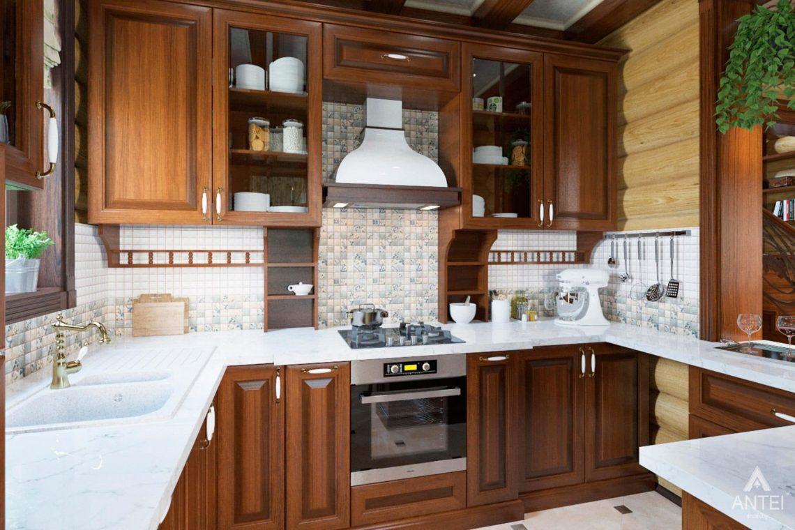 Дизайн интерьера загородного дома в Гомеле, р-не Романовичи - кухня фото №2