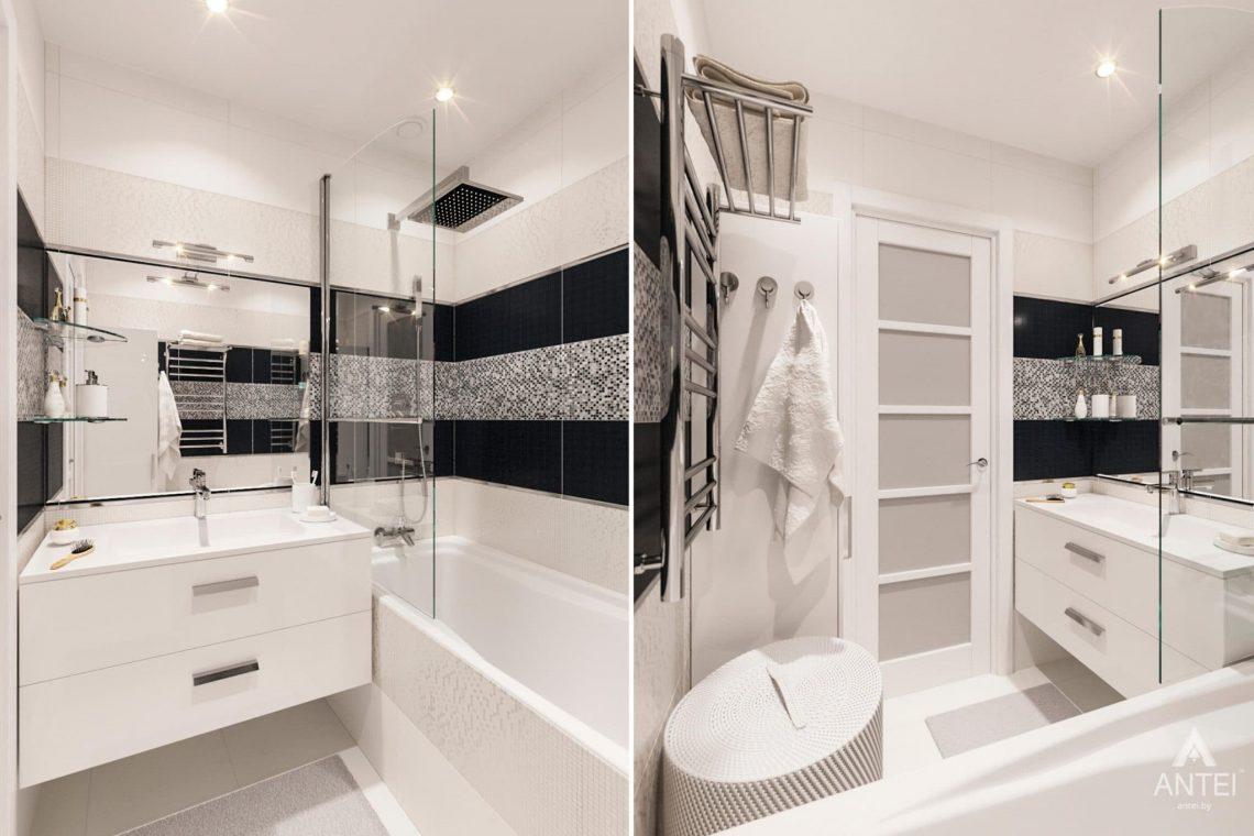 Дизайн интерьера квартиры в Гомеле, ул. Пенязькова, 37 - ванная фото №1