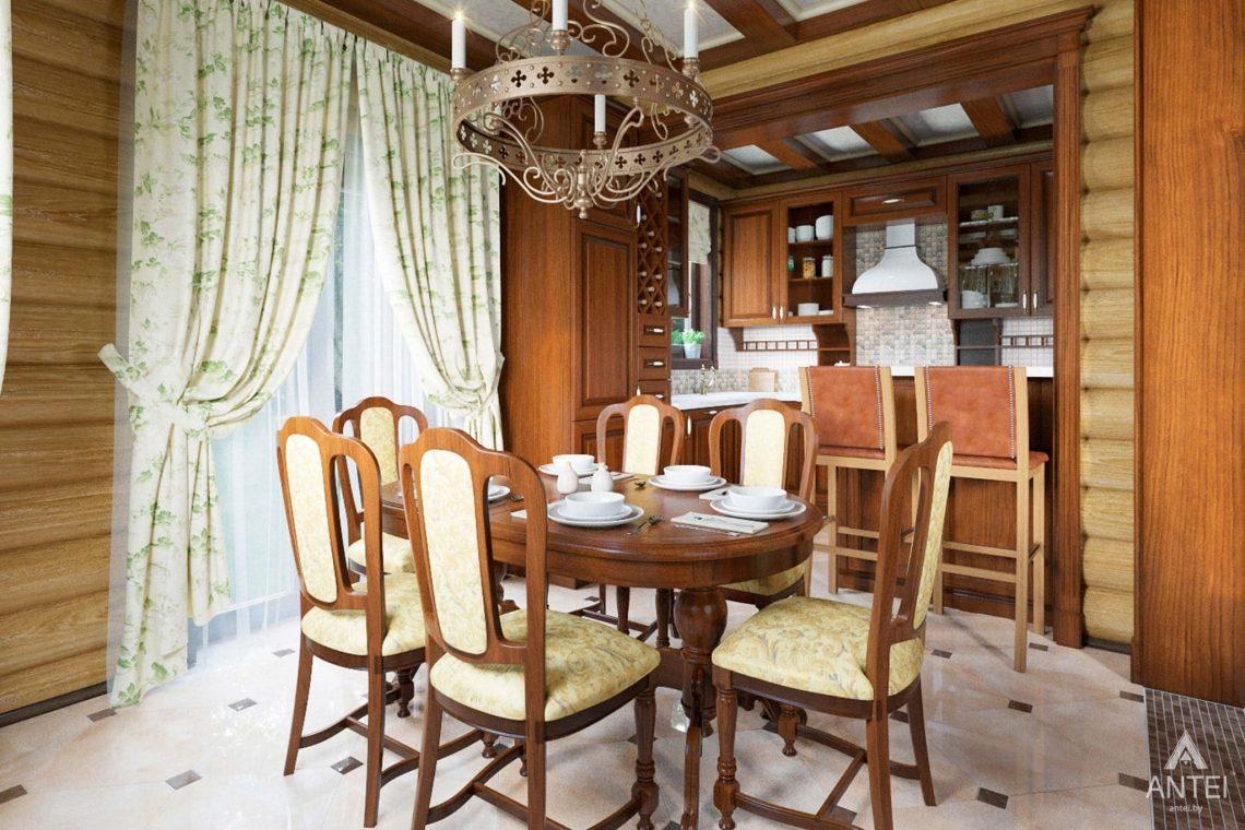 Дизайн интерьера загородного дома в Гомеле, р-не Романовичи - кухня фото №1