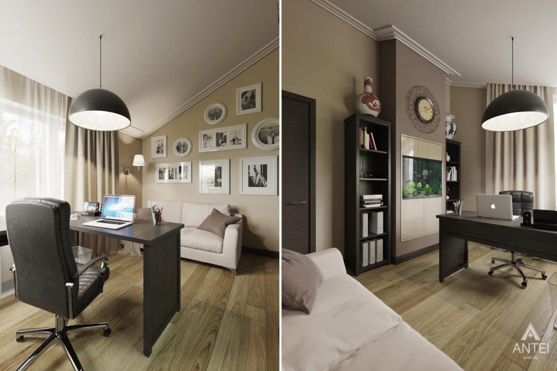 Дизайн интерьера загородного дома в г. Люберцы, Россия - кабинет