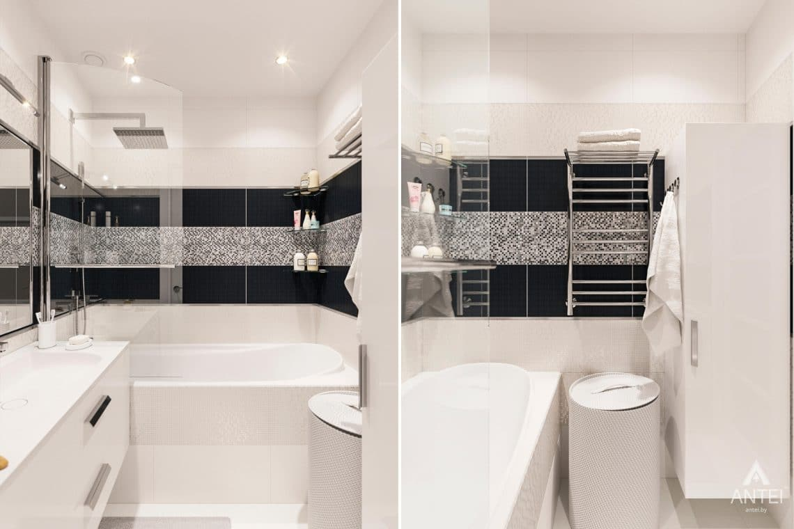 Дизайн интерьера квартиры в Гомеле, ул. Пенязькова, 37 - ванная фото №2