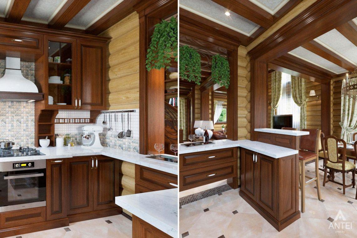 Дизайн интерьера загородного дома в Гомеле, р-не Романовичи - кухня фото №3