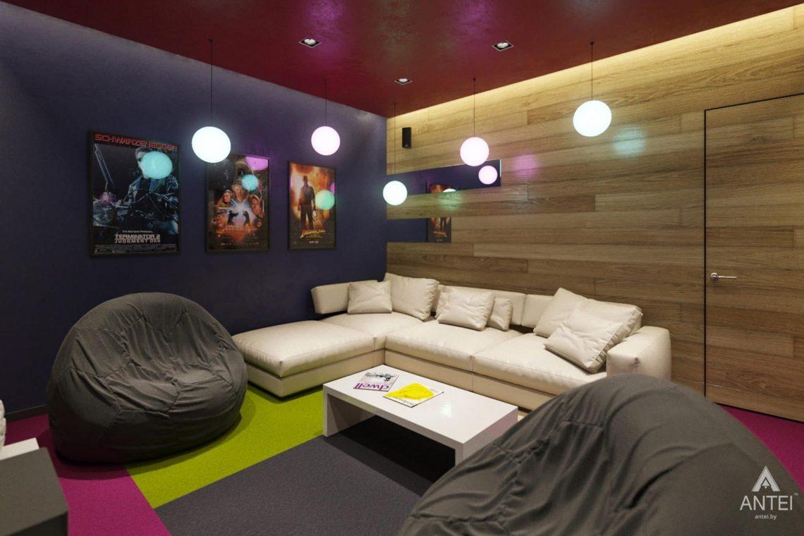 Дизайн интерьера загородного дома в г. Люберцы, Россия - кинозал фото №2