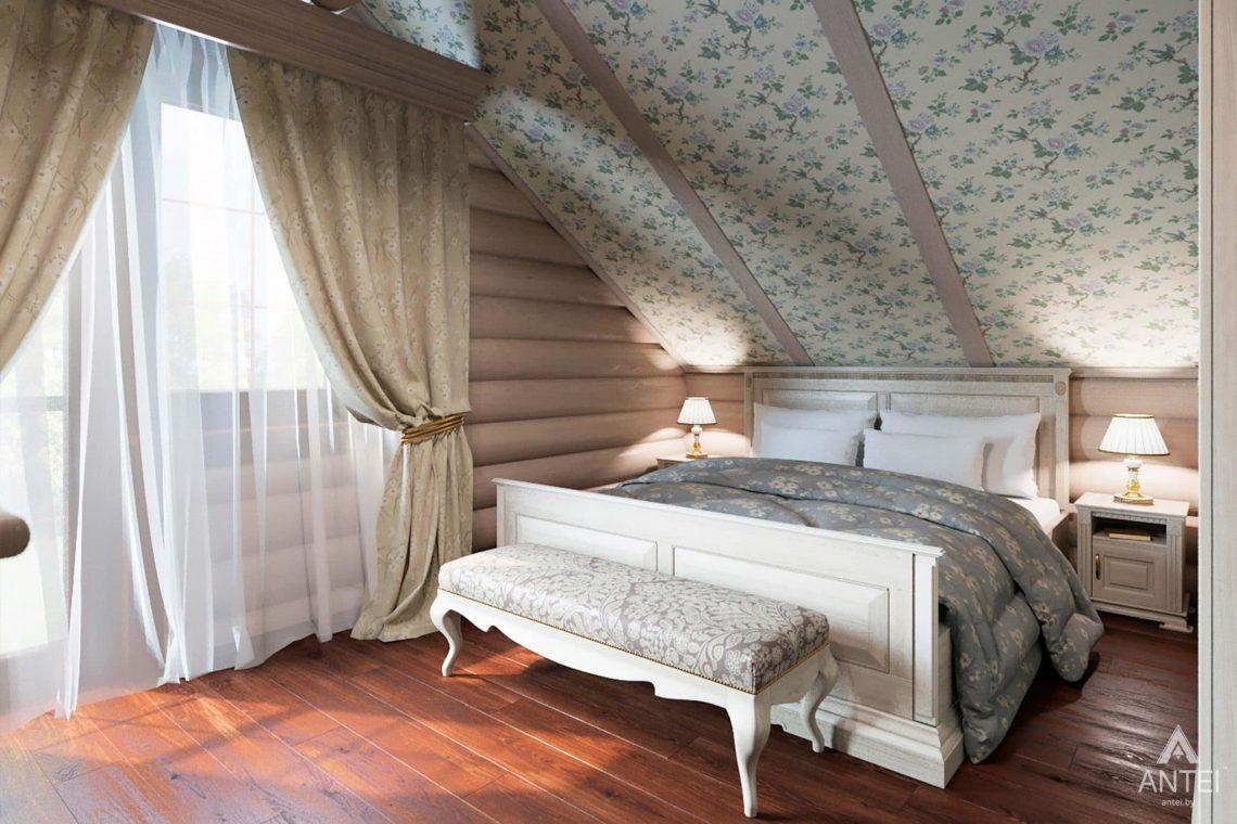 Дизайн интерьера загородного дома в Гомеле, р-не Романовичи - спальня фото №1