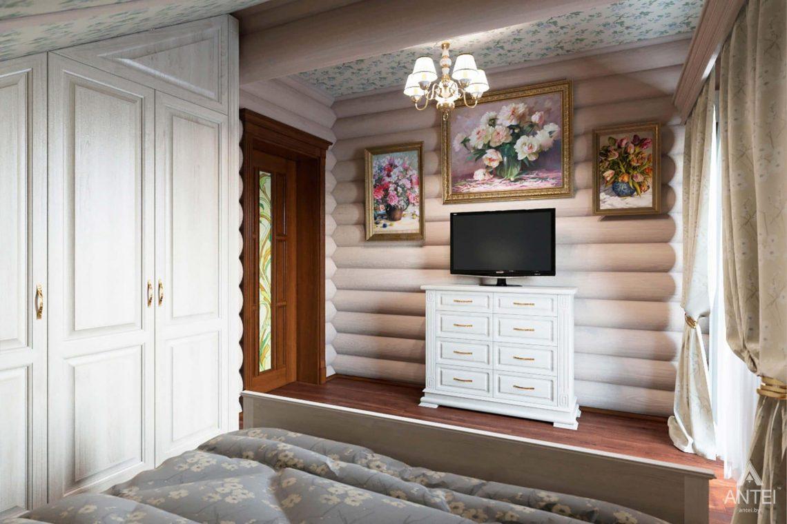 Дизайн интерьера загородного дома в Гомеле, р-не Романовичи - спальня фото №3