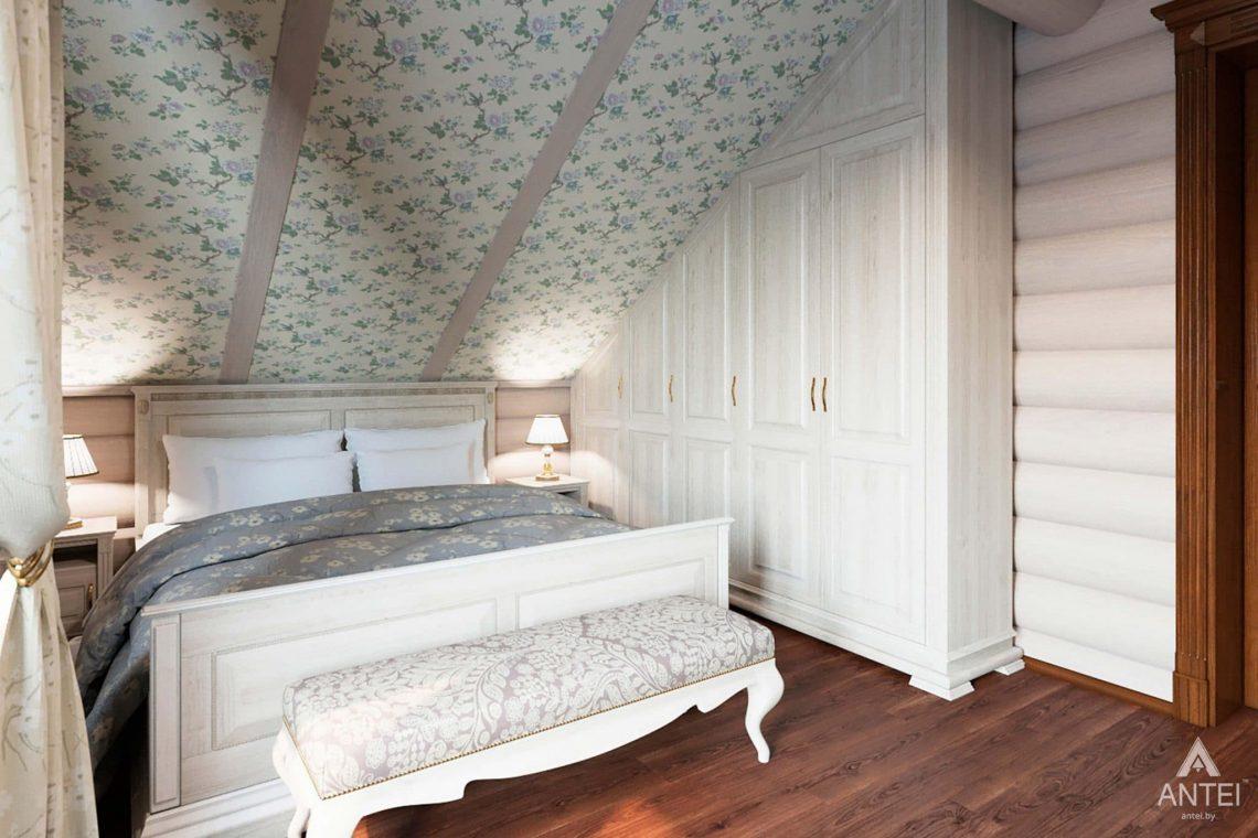Дизайн интерьера загородного дома в Гомеле, р-не Романовичи - спальня фото №2