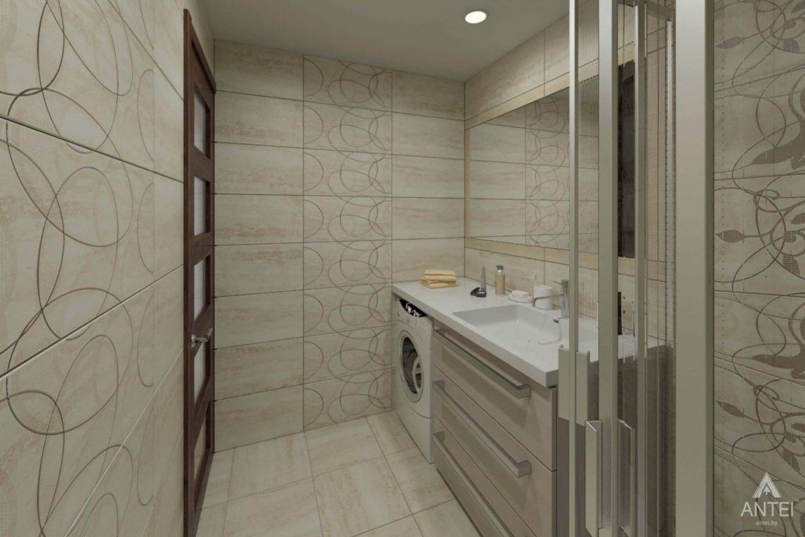 Дизайн интерьера квартиры в г. Гомеле, ул. Кожара, 55 - ванная фото №3