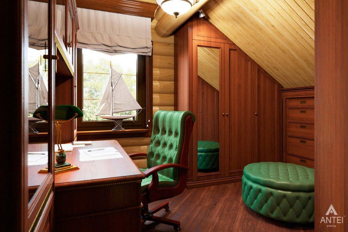Дизайн интерьера загородного дома в Гомеле, р-не Романовичи - кабинет фото №2