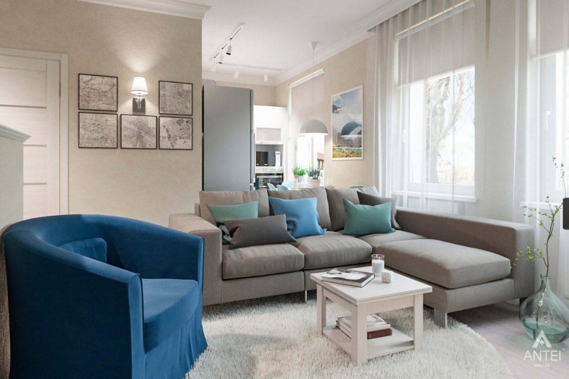 Дизайн интерьера квартиры в Светлогорске - гостиная фото №1