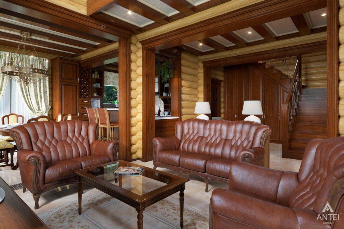 Дизайн интерьера загородного дома в Гомеле, р-не Романовичи - гостиная фото №3