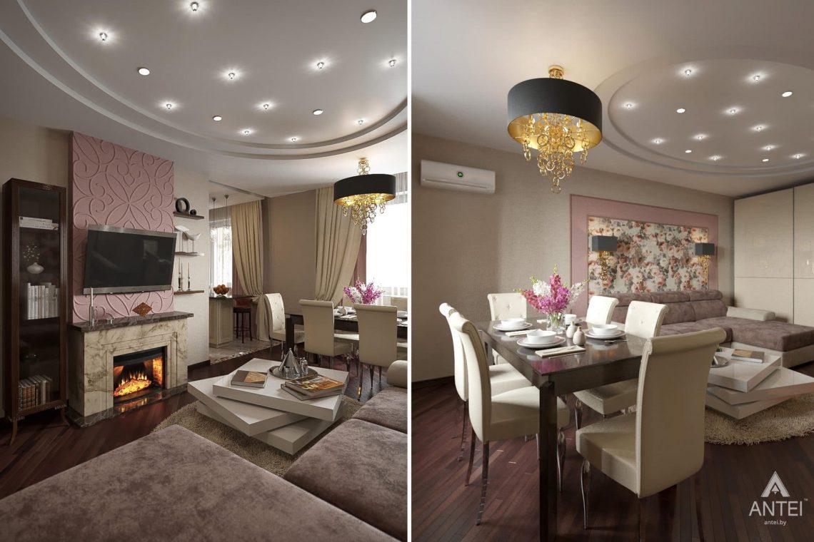 Дизайн интерьера квартиры в Гомеле, ул. Волотовская, 11 - гостиная фото №1