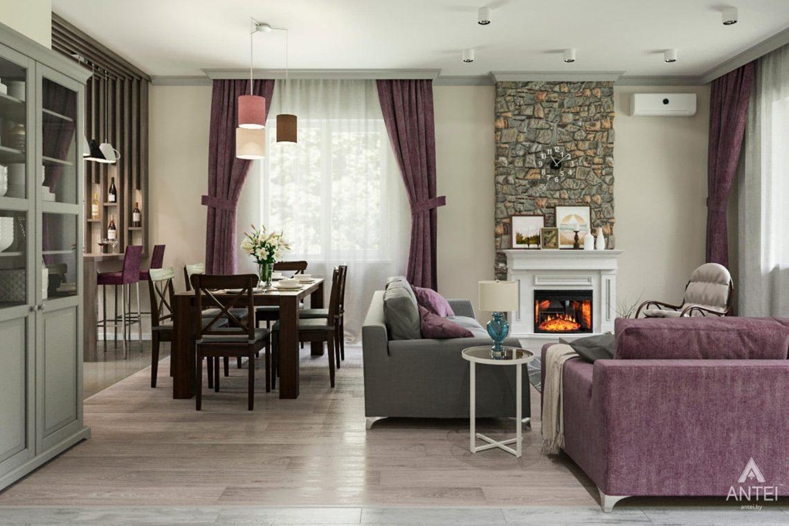 Дизайн интерьера загородного дома в Гомеле, п. Березки - гостиная фото №3