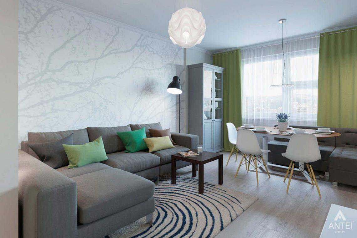 Дизайн интерьера квартиры в Гомеле, ул.Денисенко - гостиная фото №1