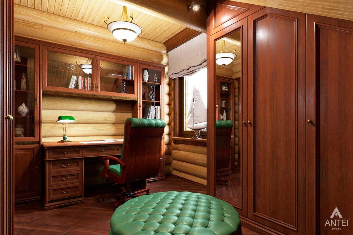 Дизайн интерьера загородного дома в Гомеле, р-не Романовичи - кабинет фото №1