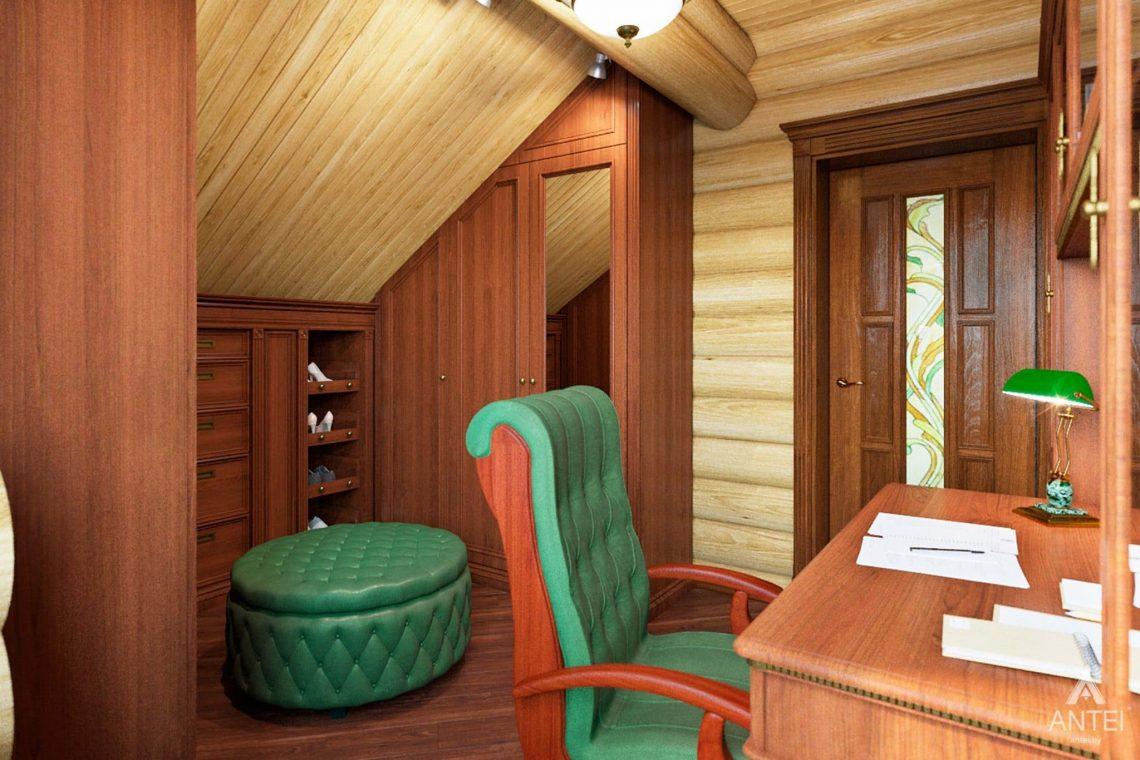 Дизайн интерьера загородного дома в Гомеле, р-не Романовичи - кабинет фото №3