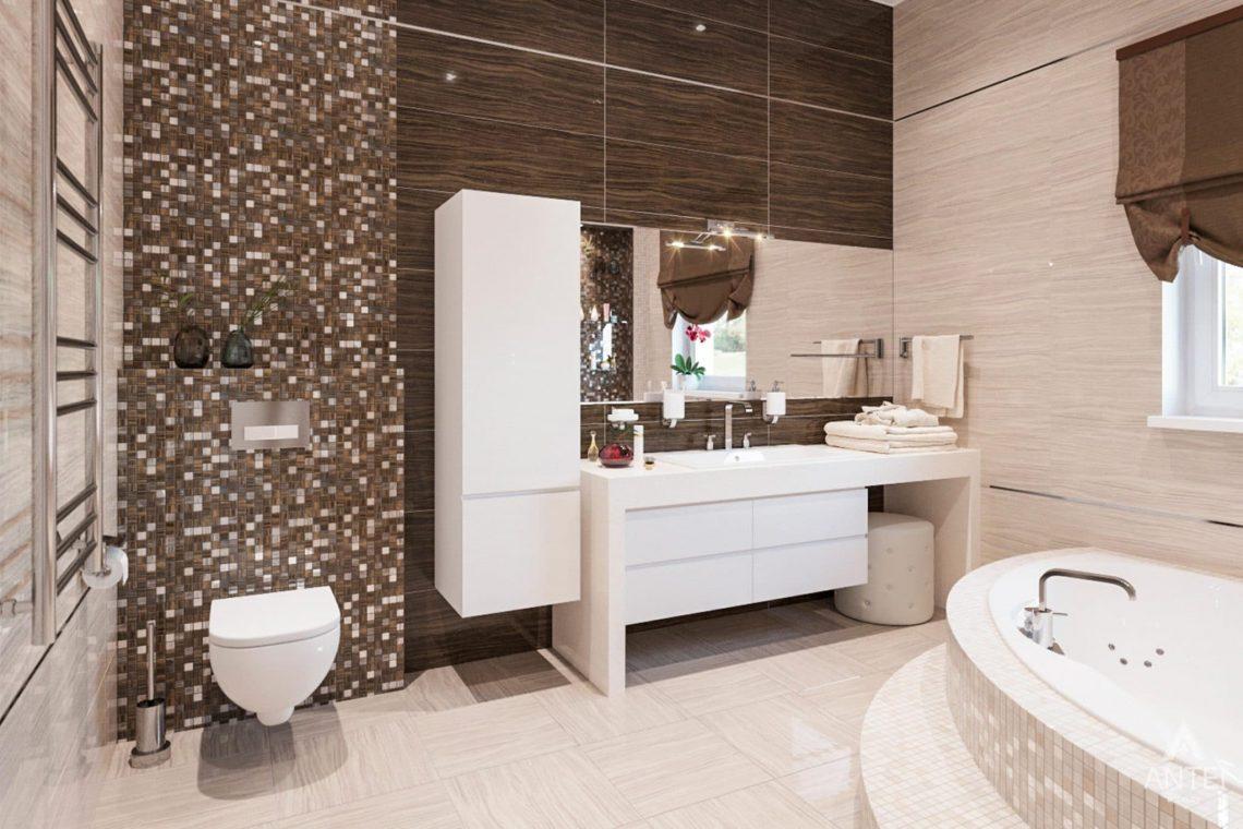 Дизайн интерьера загородного дома в г. Люберцы, Россия - ванная фото №2