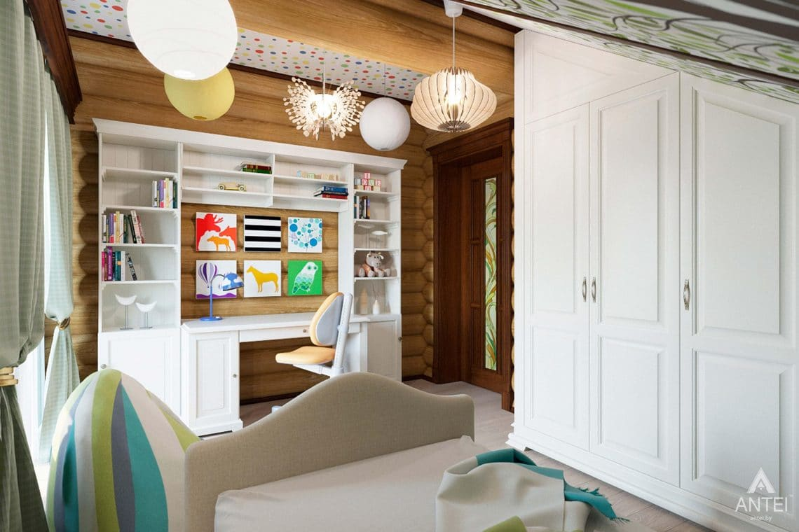 Дизайн интерьера загородного дома в Гомеле, р-не Романовичи - детская комната фото №3