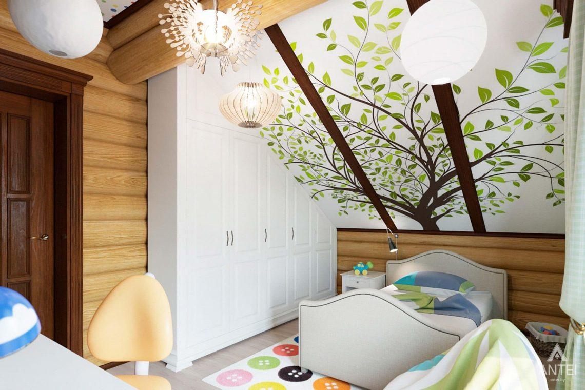 Дизайн интерьера загородного дома в Гомеле, р-не Романовичи - детская комната фото №2