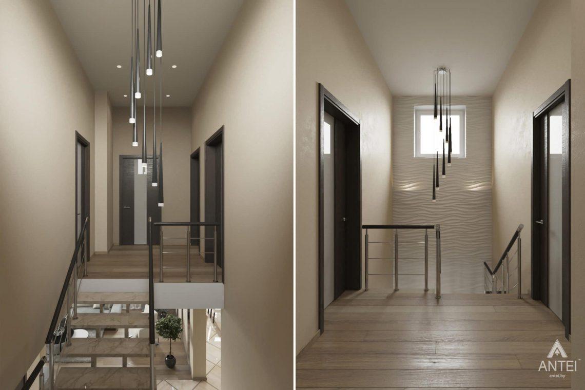 Дизайн интерьера загородного дома в г. Люберцы, Россия - лестница 2 этаж