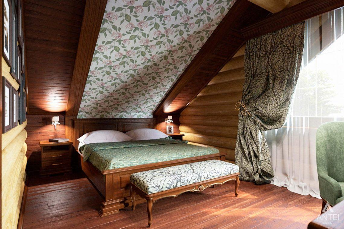 Дизайн интерьера загородного дома в Гомеле, р-не Романовичи - спальня-2 фото №1