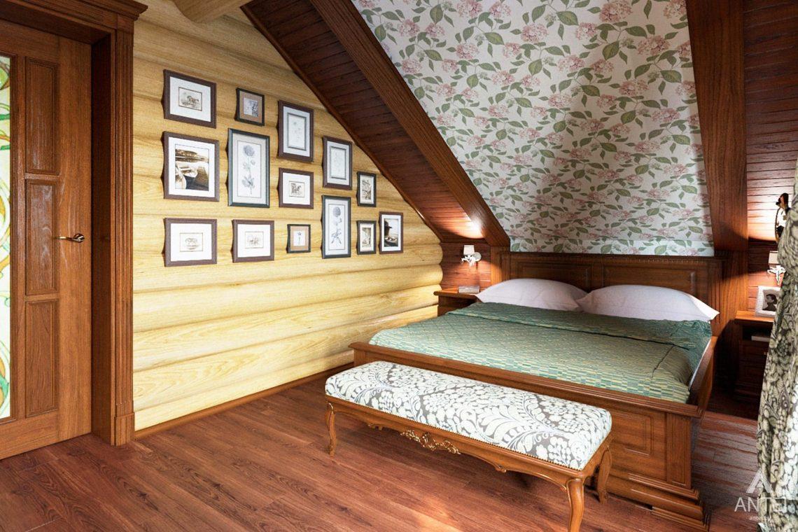 Дизайн интерьера загородного дома в Гомеле, р-не Романовичи - спальня-2 фото №2