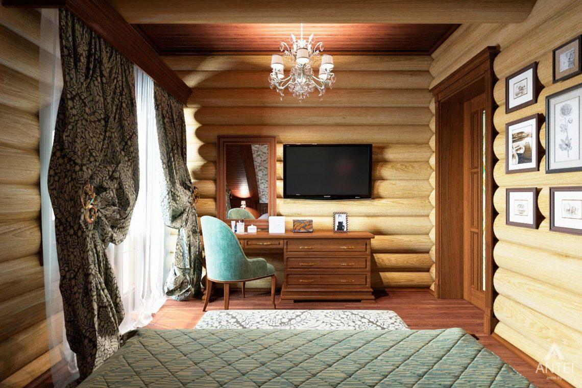 Дизайн интерьера загородного дома в Гомеле, р-не Романовичи - спальня-2 фото №3