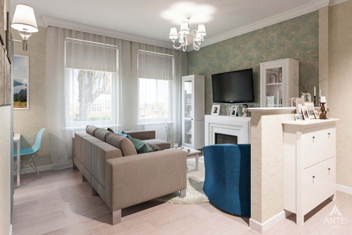 Дизайн интерьера квартиры в Светлогорске - гостиная фото №2
