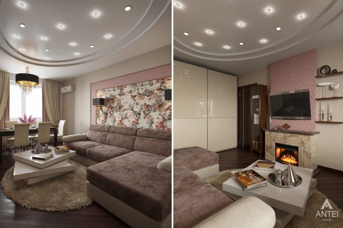 Дизайн интерьера квартиры в Гомеле, ул. Волотовская, 11 - гостиная фото №2