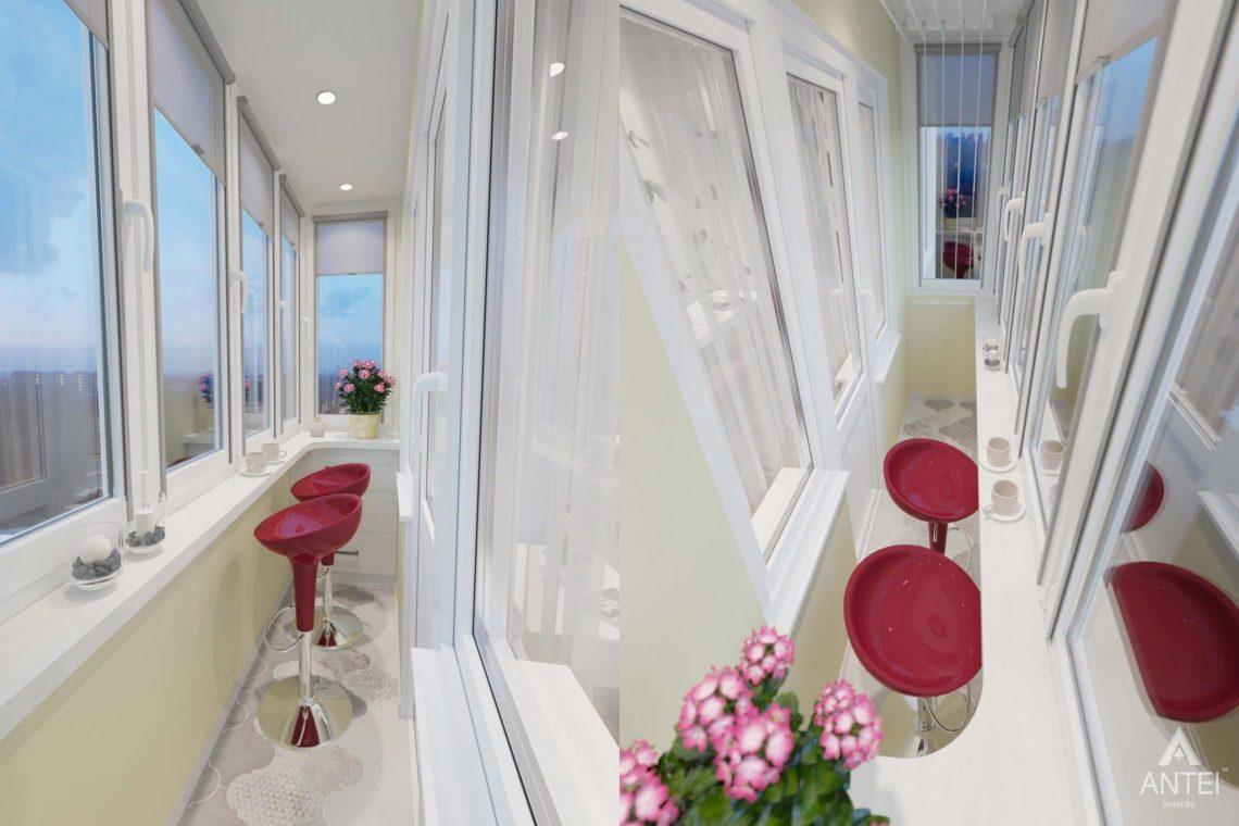 Дизайн интерьера квартиры в Гомеле, ул. Победы - балкон фото №1