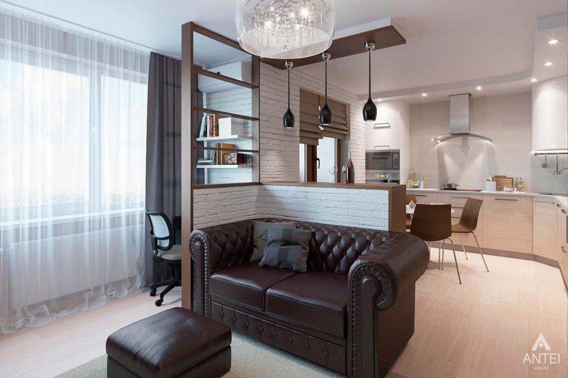 Дизайн интерьера квартиры в Гомеле, ул. Ландышева, 14 - кухня-гостиная фото №4