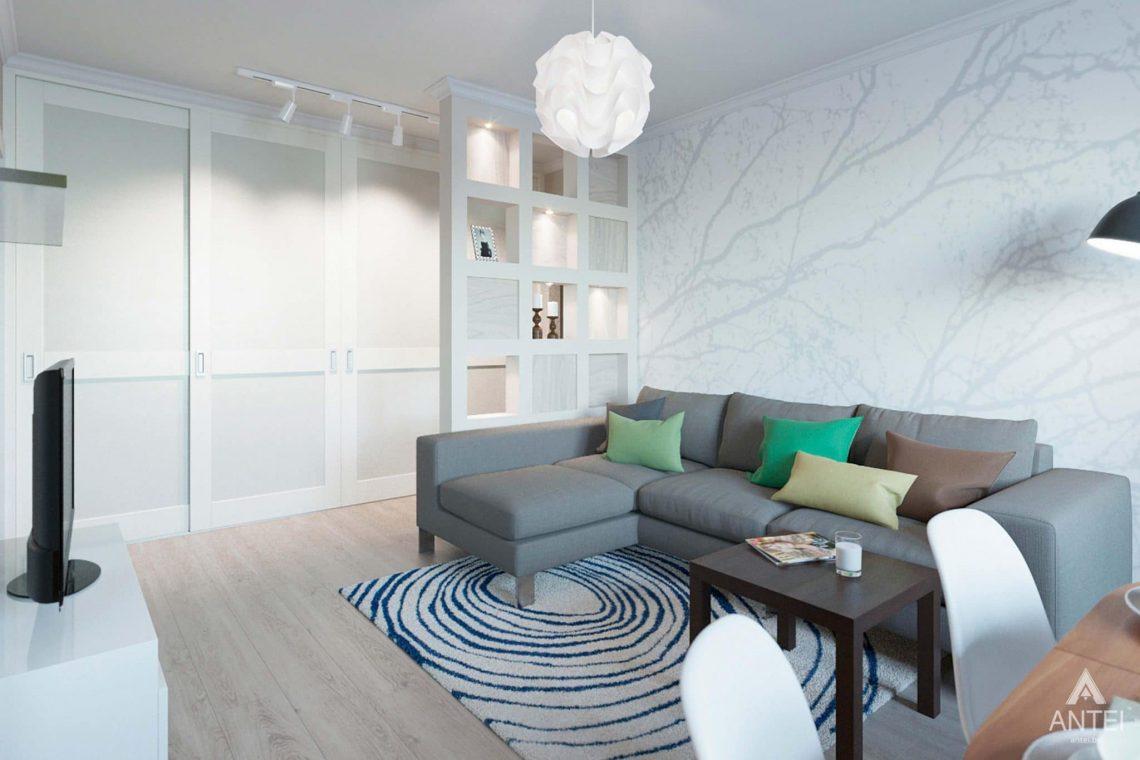 Дизайн интерьера квартиры в Гомеле, ул.Денисенко - гостиная фото №2