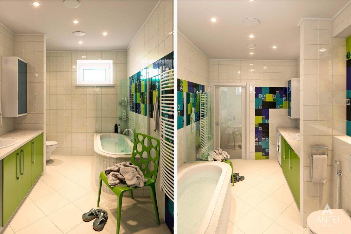 Дизайн интерьера загородного дома в Гомеле - ванная фото №2