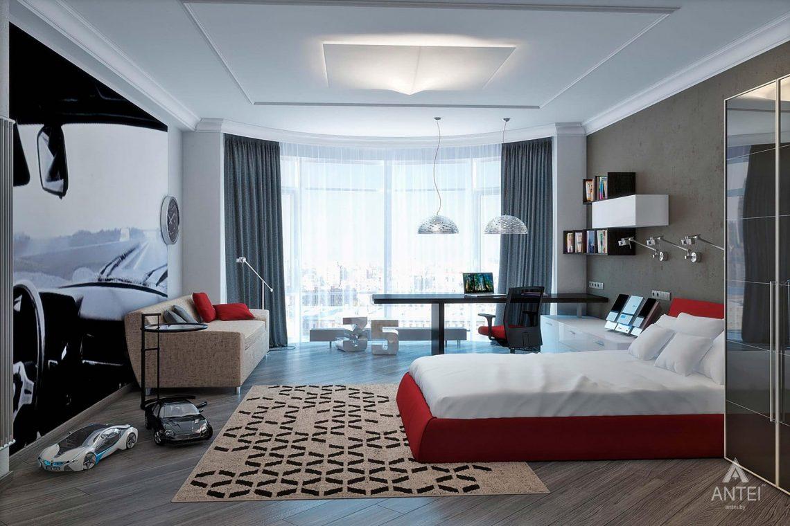 Дизайн интерьера пентхауса в Москве - спальня фото №2